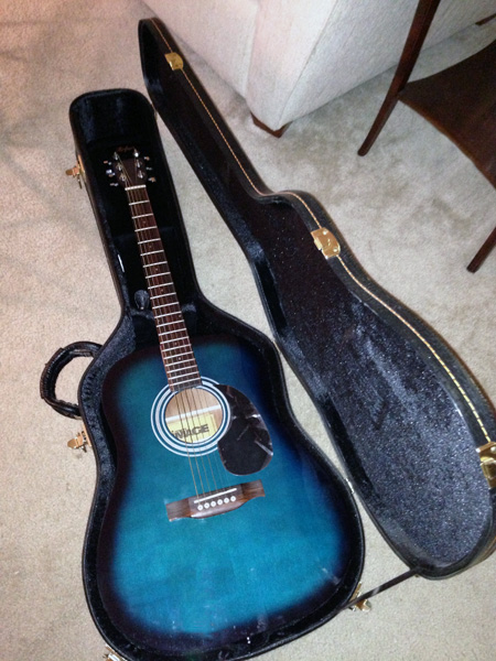 The guitar I was loaned to use for this project.